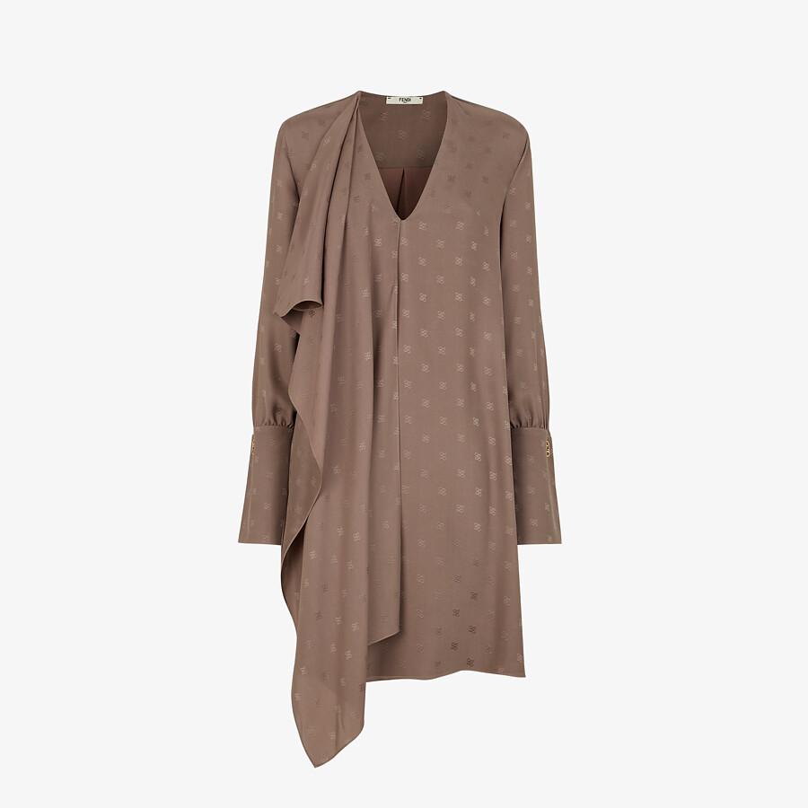 FENDI DRESS - Brown crêpe de Chine dress - view 1 detail