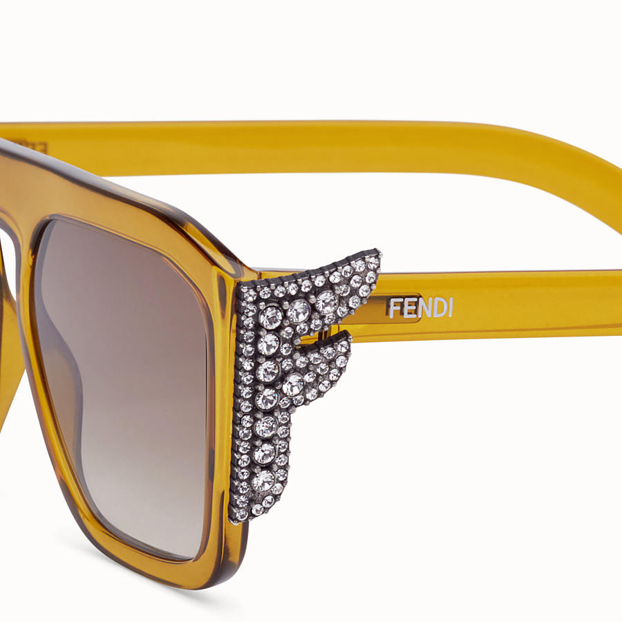 FENDI FFREEDOM - Gafas de sol amarillas - view 3 detail