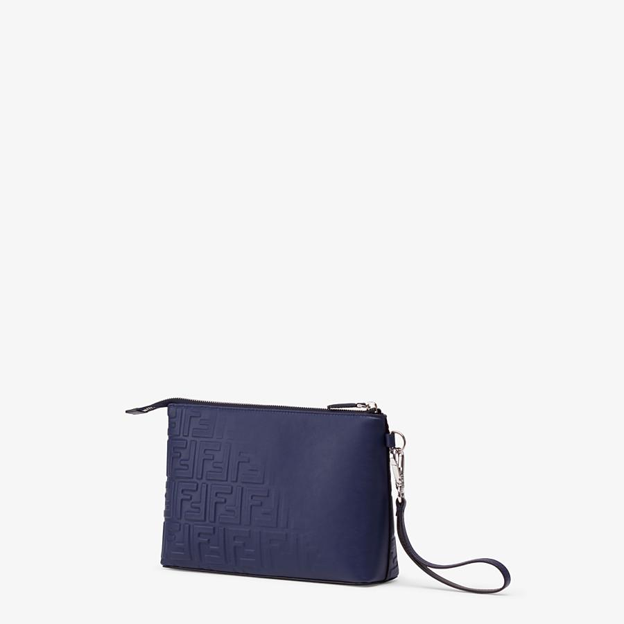 FENDI POUCH - Blue calf leather pochette - view 2 detail