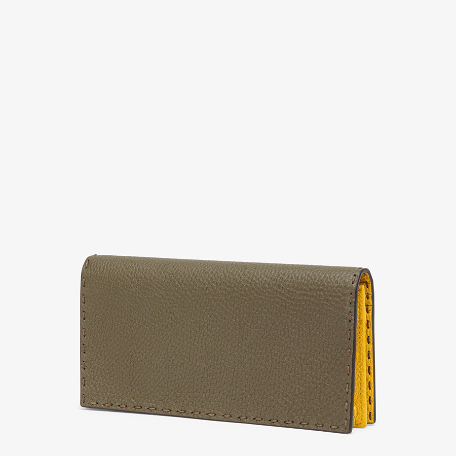 FENDI CONTINENTAL - Green leather wallet - view 2 detail