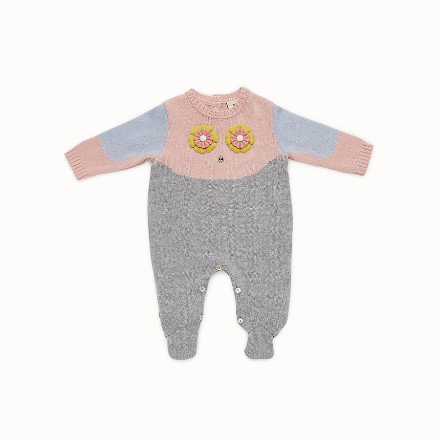 FENDI MONO - Mono de bebé niña de mezcla de lana gris y multicolor - view 1 detail