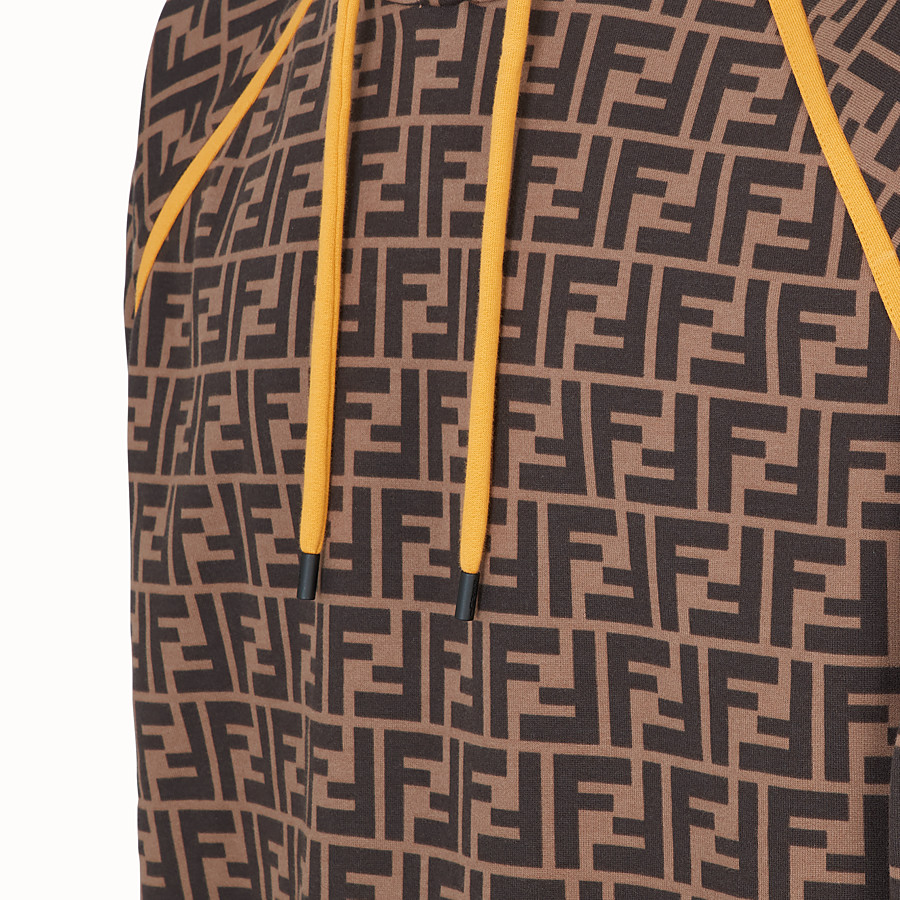 FENDI SWEATSHIRT - Brown cotton sweatshirt - view 3 detail