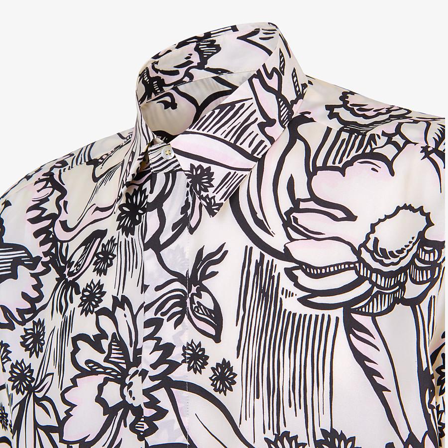 FENDI SHIRT - Pink silk shirt - view 3 detail
