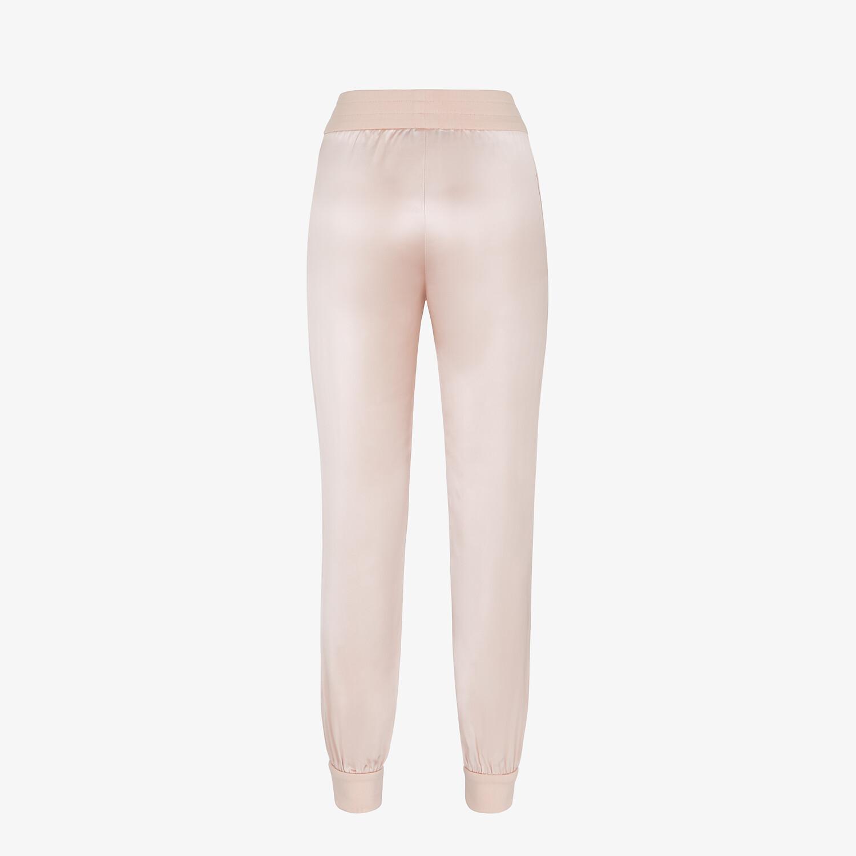 FENDI JUMPSUIT - Pink satin sweatshirt and pants - view 5 detail
