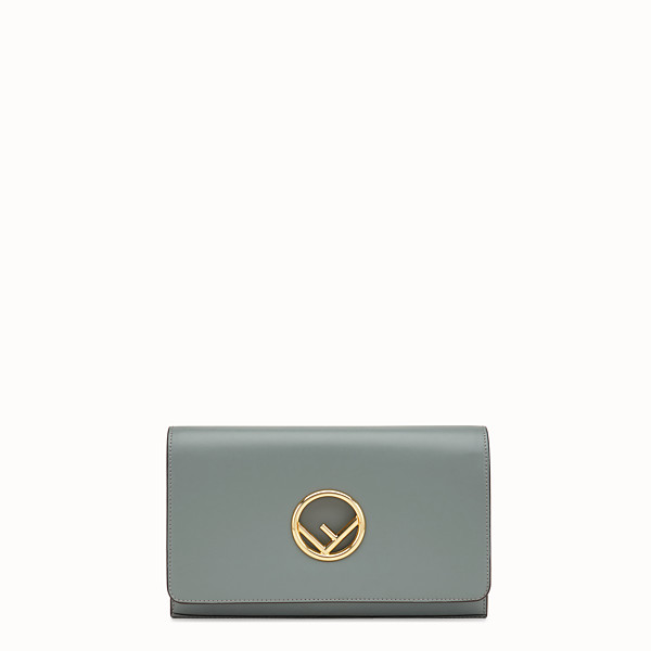 FENDI WALLET ON CHAIN - Green leather mini-bag - view 1 small thumbnail