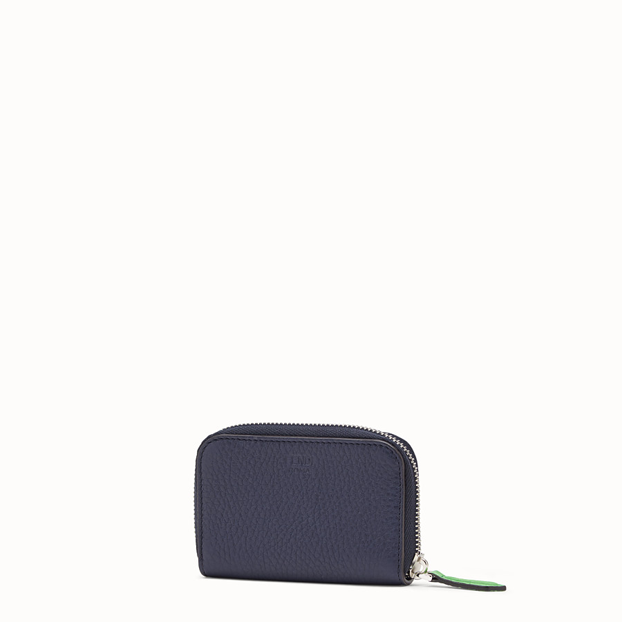 FENDI ZIP-AROUND - Blue Romano leather wallet - view 2 detail