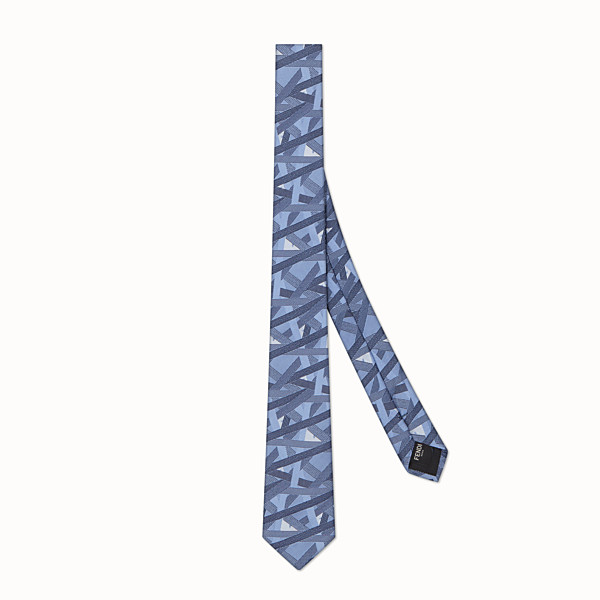 FENDI TIE - Pale blue silk tie - view 1 small thumbnail