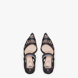 FENDI SLINGBACKS - Colibrì in PU and black leather - view 4 thumbnail