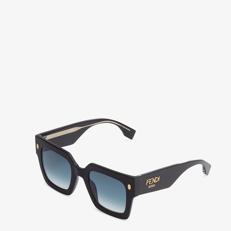 FENDI FENDI ROMA - Black acetate sunglasses - view 2 detail