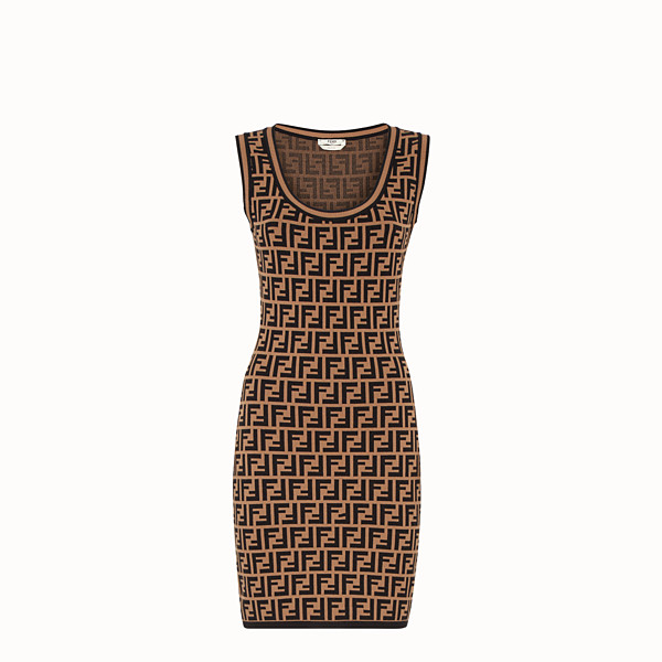 FENDI SHORT DRESS - Multicolour fabric mini dress - view 1 small thumbnail
