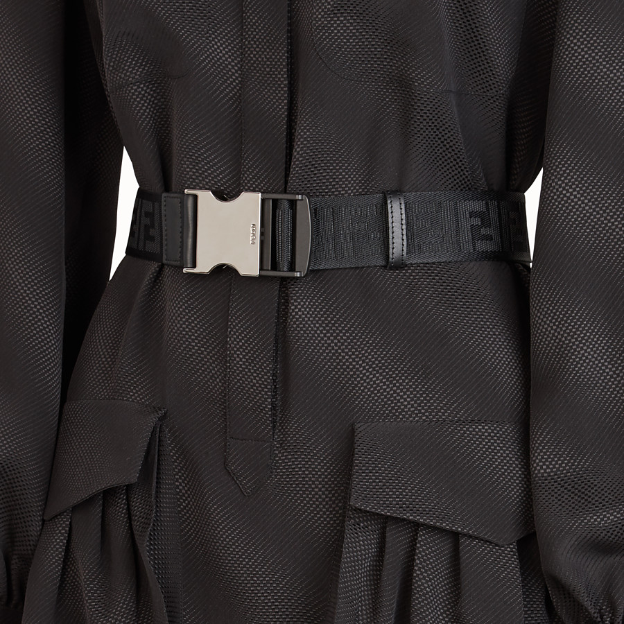 FENDI DRESS - Black silk dress - view 3 detail