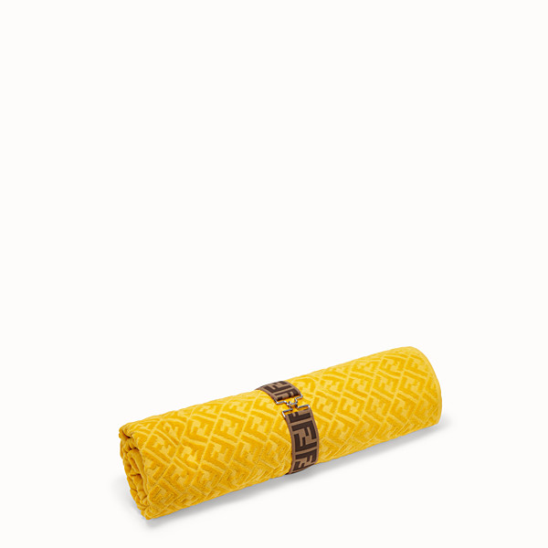 FENDI BEACH TOWEL - Yellow cotton beach towel - view 1 small thumbnail