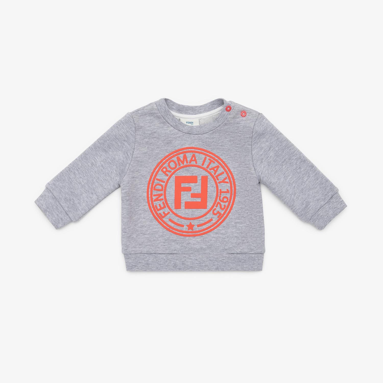 FENDI FELPA - Felpa in cotone grigio - vista 1 dettaglio