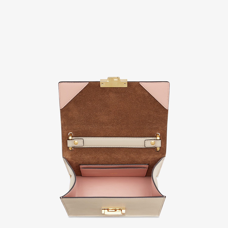 FENDI KAN U SMALL - Grey leather mini-bag - view 4 detail