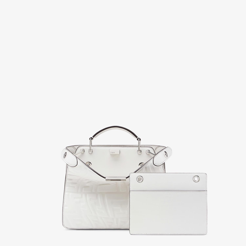 FENDI PEEKABOO ISEEU MINI - White nappa leather bag - view 2 detail