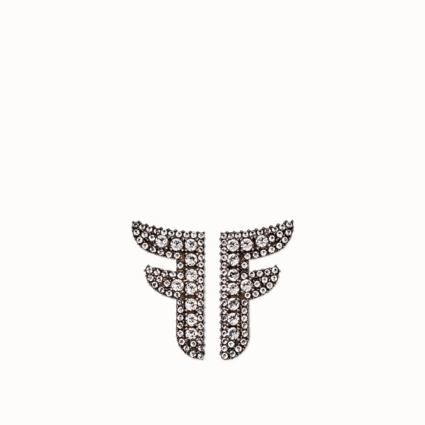FENDI FFREEDOM EARRINGS - Palladium-colored earrings - view 1 small thumbnail