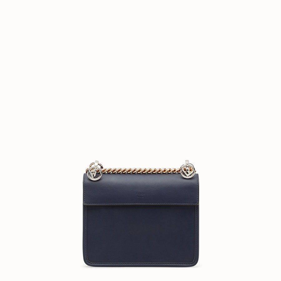 FENDI KAN I F SMALL - Blue leather mini-bag - view 3 detail