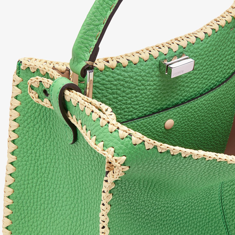 FENDI PEEKABOO X-LITE MEDIUM - Green leather bag - view 7 detail