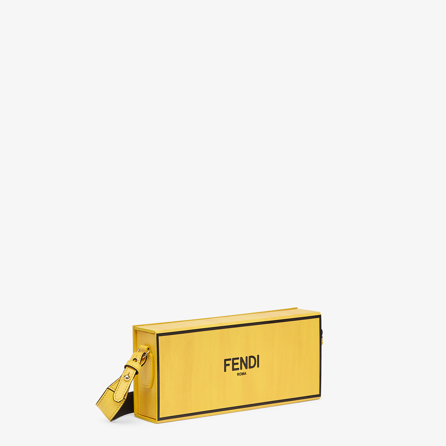 FENDI HORIZONTAL BOX - Yellow leather bag - view 2 detail