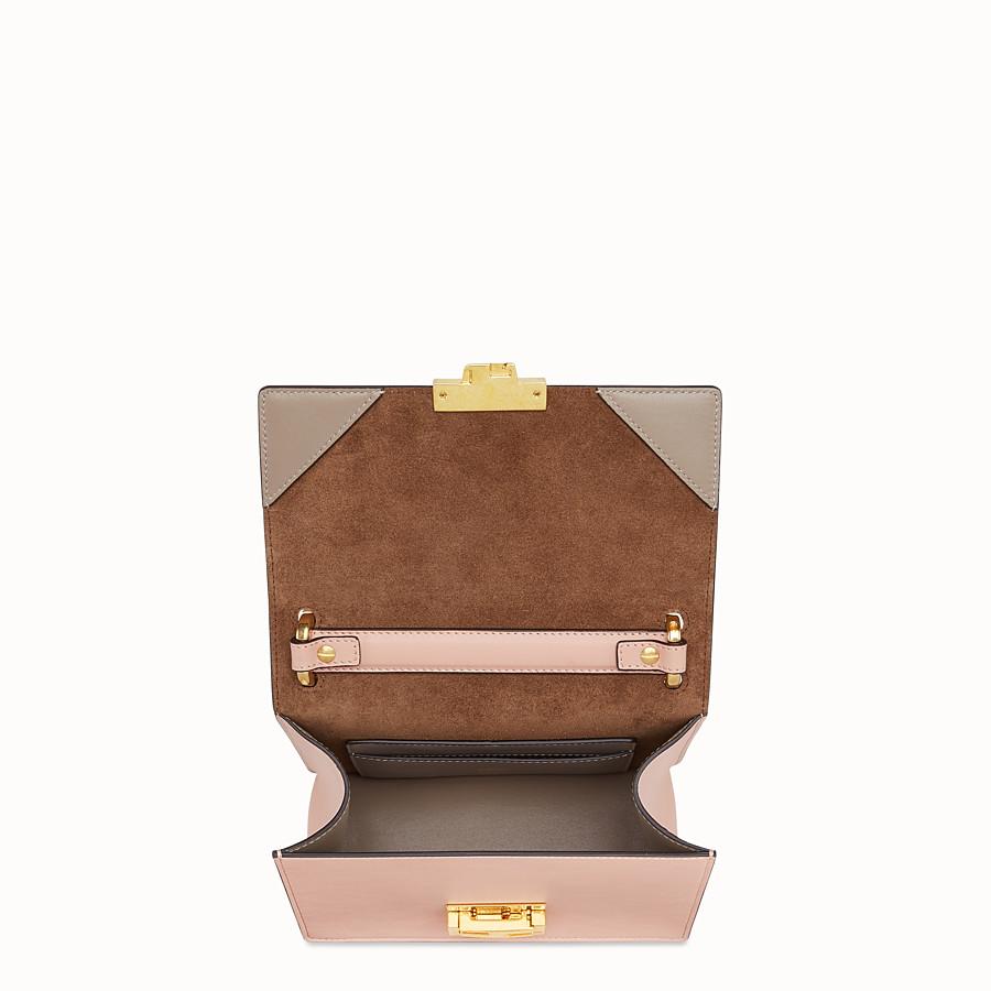 FENDI KAN U SMALL - Mini-Tasche aus Leder in Rosa - view 4 detail