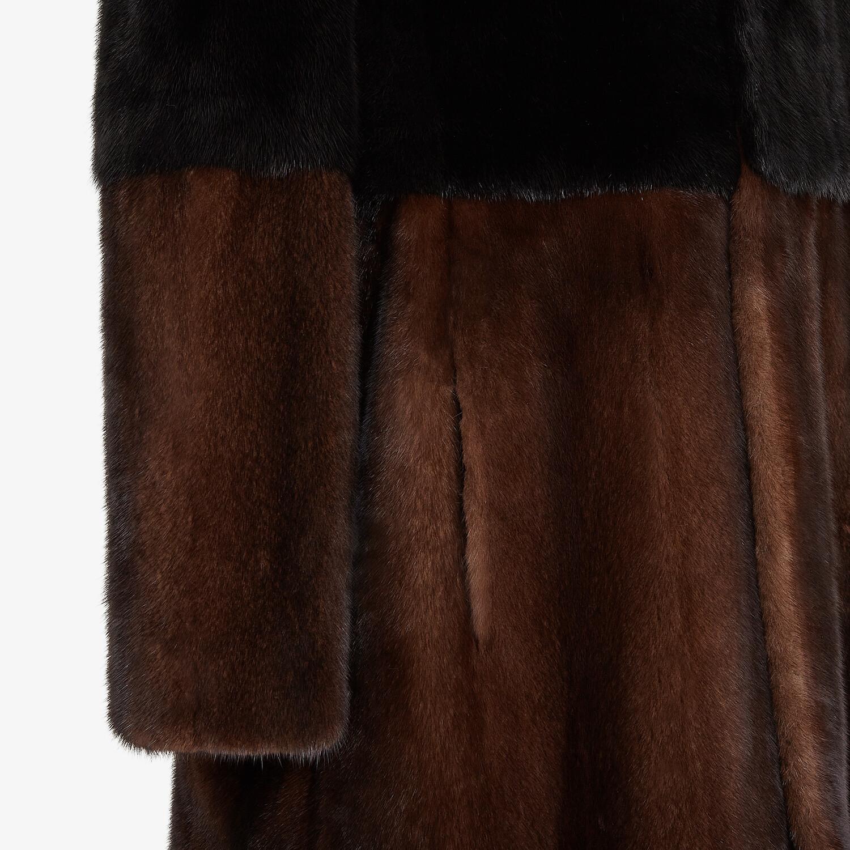 FENDI COAT - Multicolor mink trench coat - view 3 detail