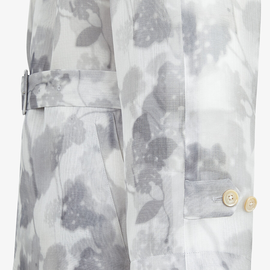 FENDI TRENCH COAT - Natural organza trench coat - view 3 detail