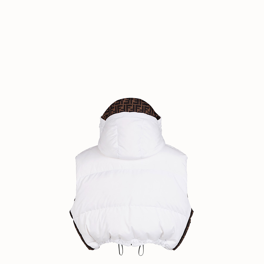 FENDI GILET - White tech fabric gilet - view 2 detail