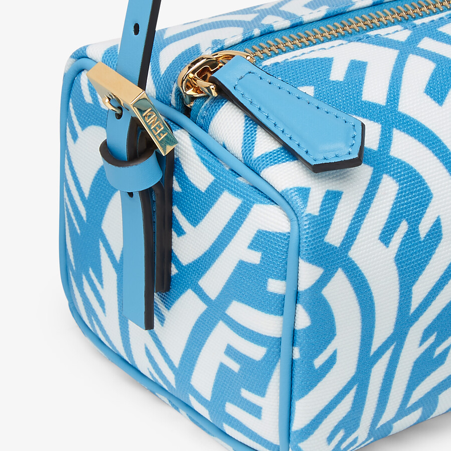 FENDI MINI BAG - Blue glazed canvas mini-bag - view 6 detail