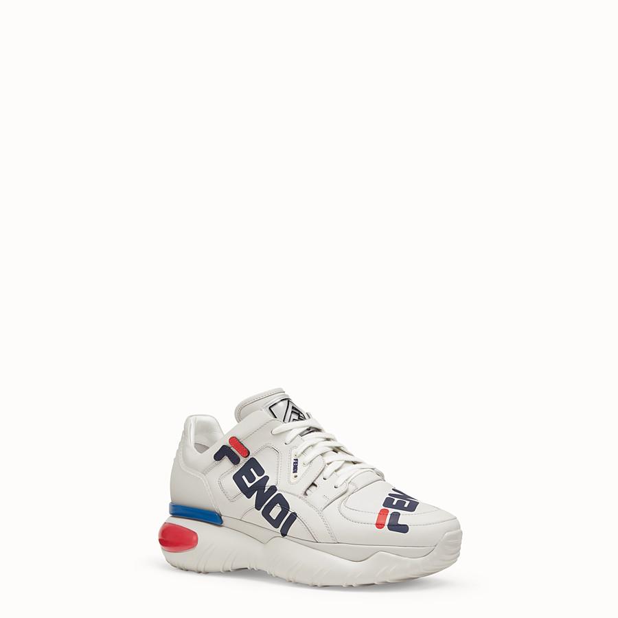 FENDI SNEAKER - Sneaker in pelle bianca - vista 2 dettaglio