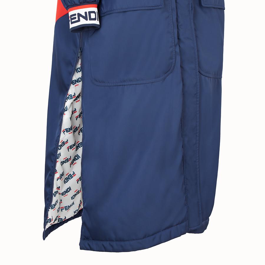 FENDI GIACCA - Cappotto in nylon blu - vista 3 dettaglio