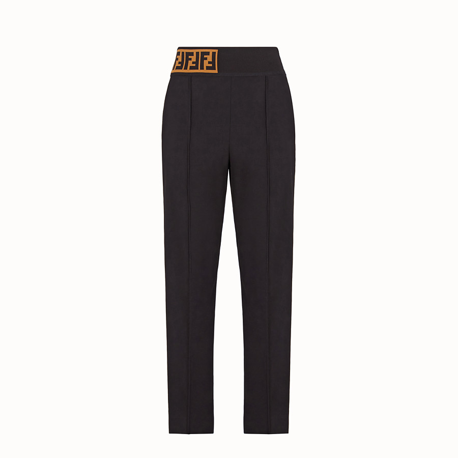 FENDI 長褲 - 黑色棉質長褲 - view 1 detail
