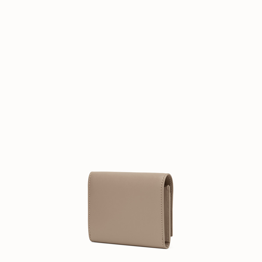FENDI CARD HOLDER - Grey leather business card holder - view 2 detail