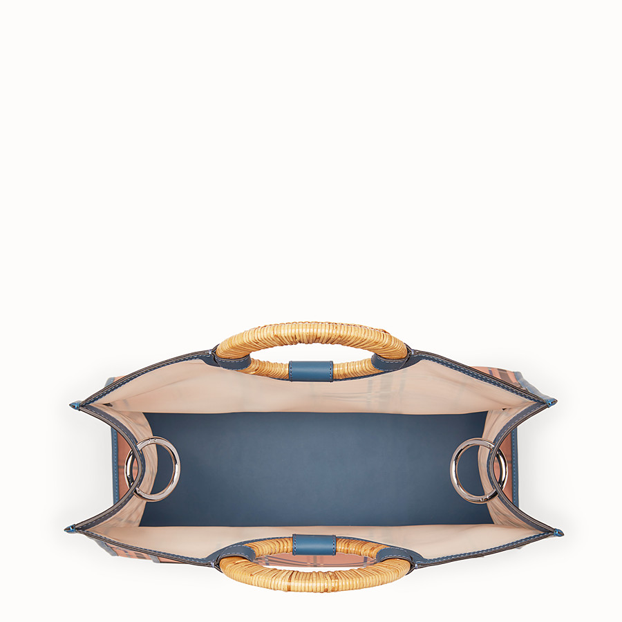 FENDI RUNAWAY購物袋 - 拼色皮革和網眼布購物袋 - view 4 detail