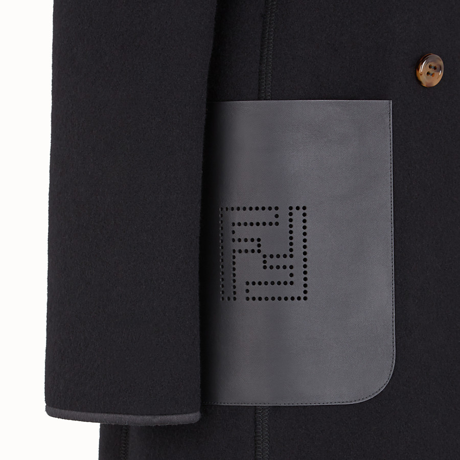 FENDI COAT - Black wool coat - view 3 detail