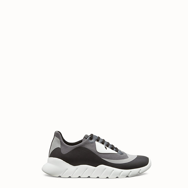FENDI SNEAKERS - Multicolour tech fabric running shoes - view 1 small thumbnail