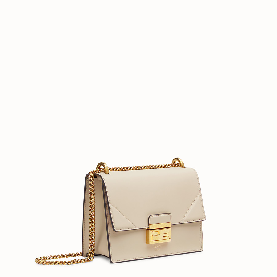 FENDI KAN U SMALL - Grey leather mini-bag - view 2 detail