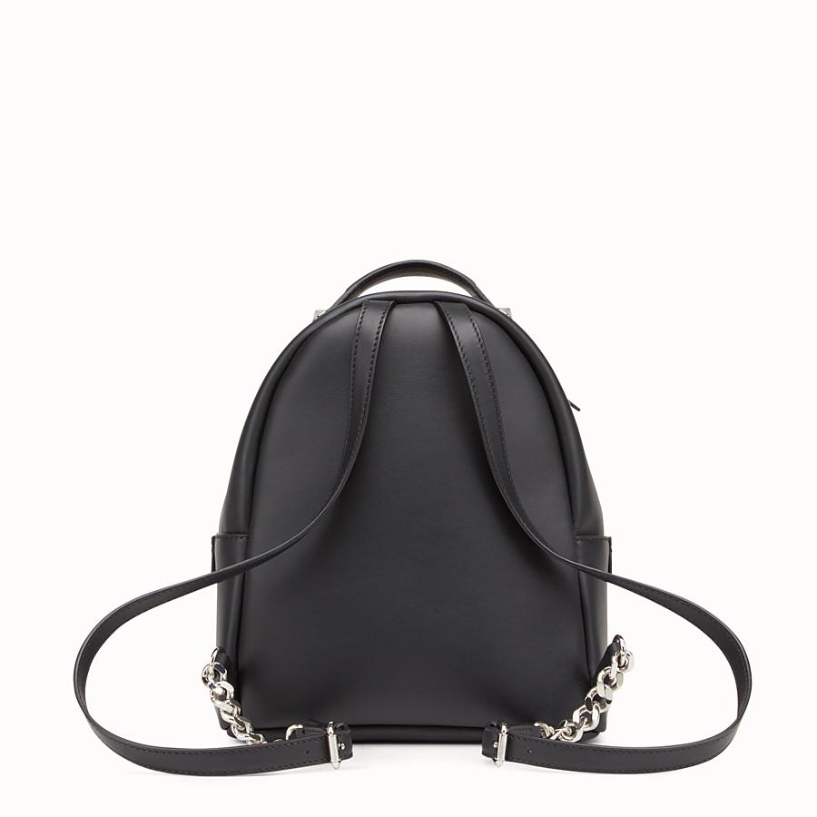 FENDI 迷你款式背包 - 黑色皮革背包 - view 3 detail
