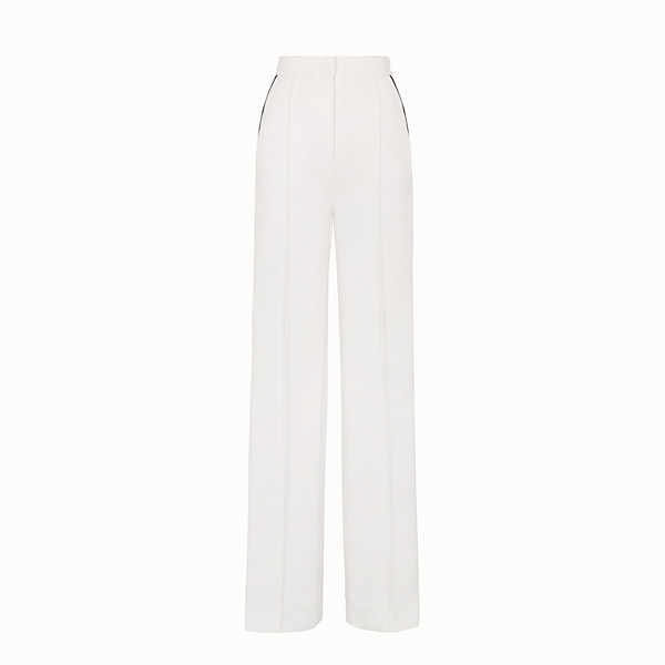 FENDI TROUSERS - White jersey trousers - view 1 small thumbnail