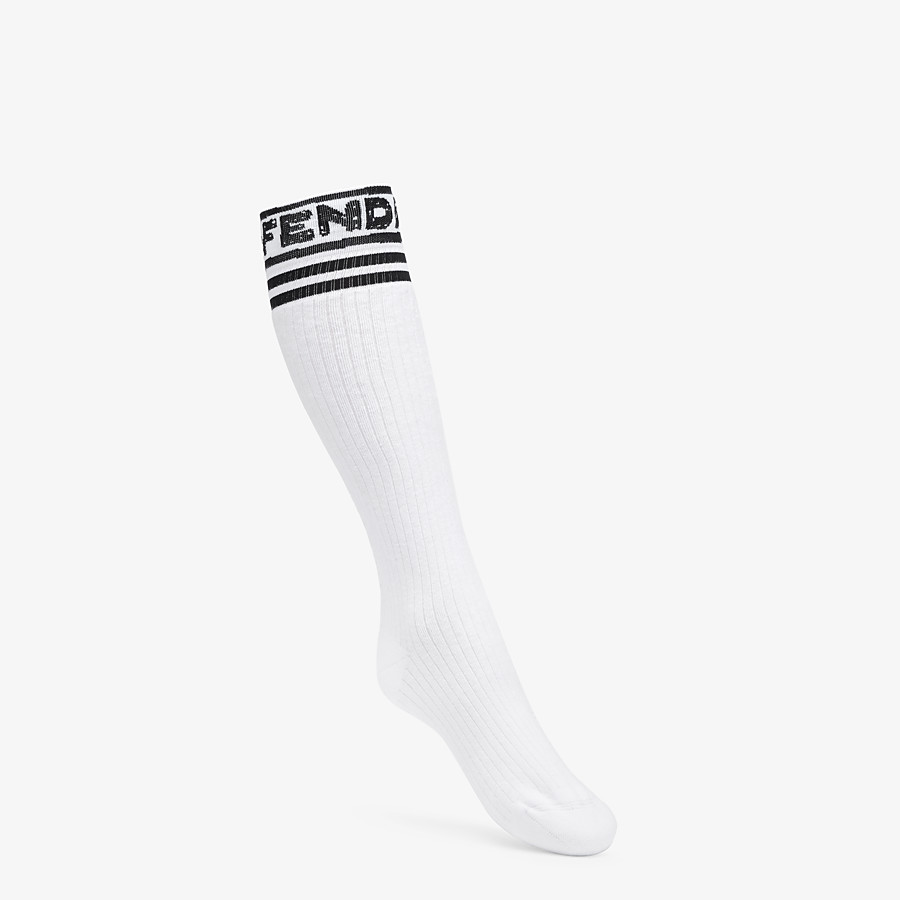 FENDI SOCKS - White terry socks - view 1 detail