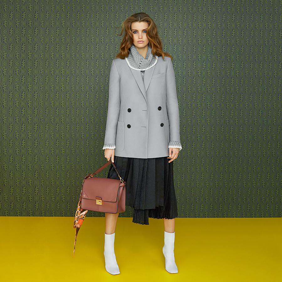 FENDI JACKET - Grey wool jacket - view 4 detail