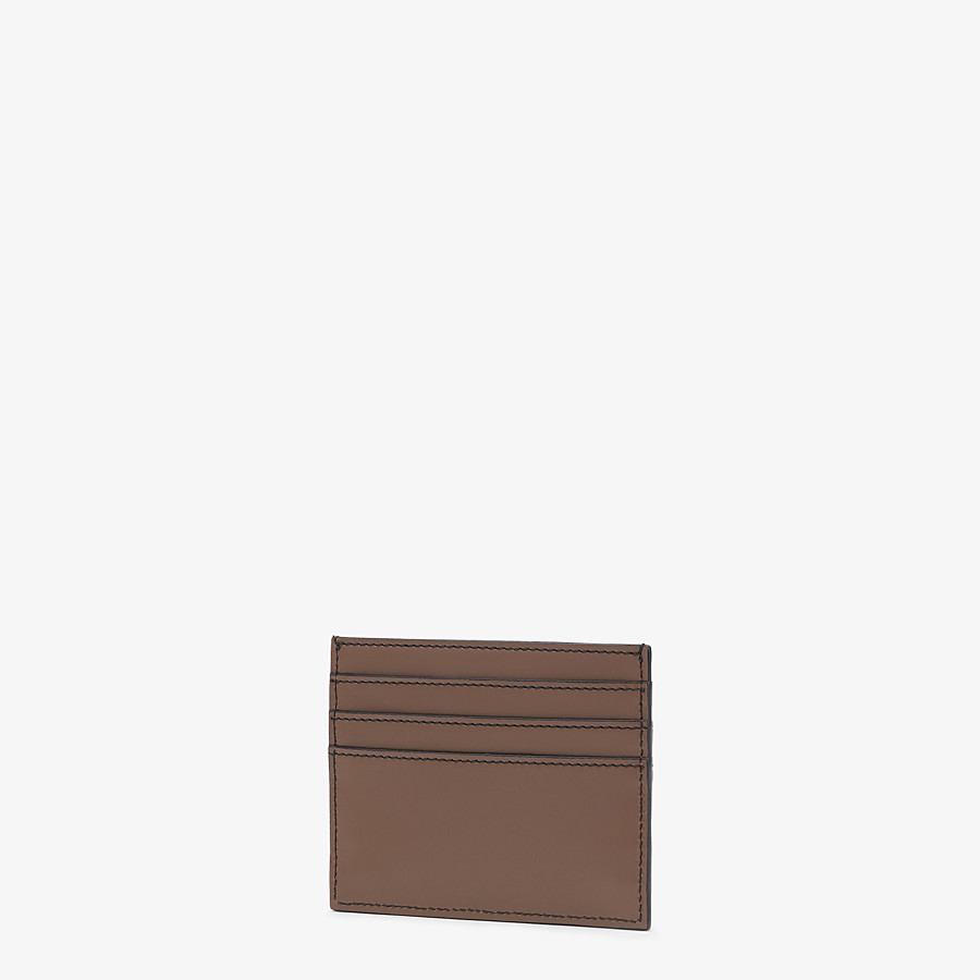 FENDI CARD HOLDER - Brown leather cardholder - view 2 detail