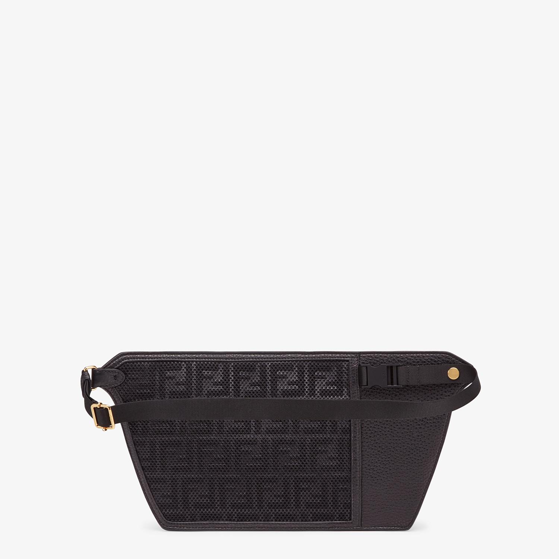 FENDI POUCH - Black leather cross-body bag - view 3 detail