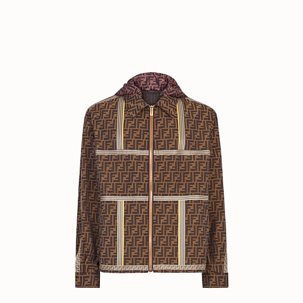 FENDI BLOUSON JACKET - Brown fabric jacket - view 1 small thumbnail