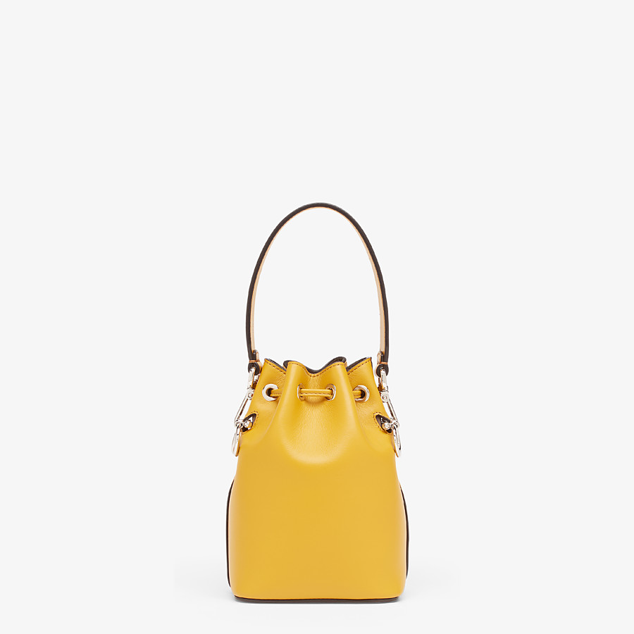 FENDI MON TRESOR - Yellow leather mini-bag - view 3 detail