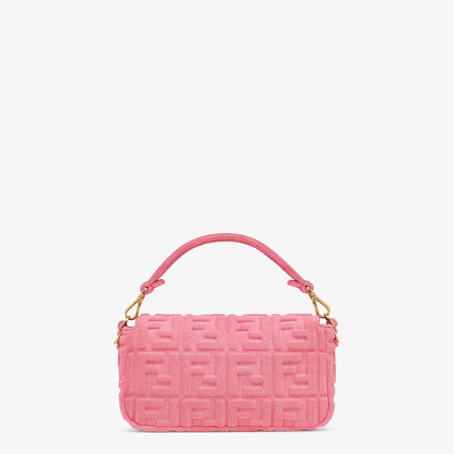 FENDI BAGUETTE - Pink terrycloth bag - view 4 detail