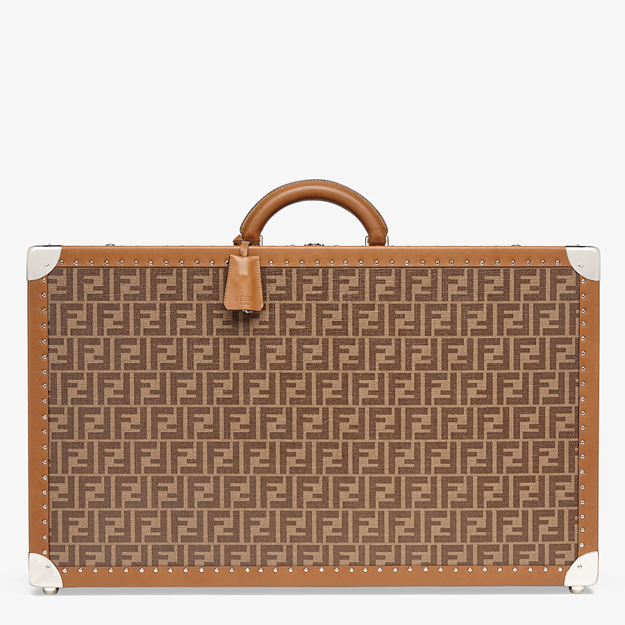 FENDI RIGID SUITCASE LARGE - Brown fabric suitcase - view 1 detail