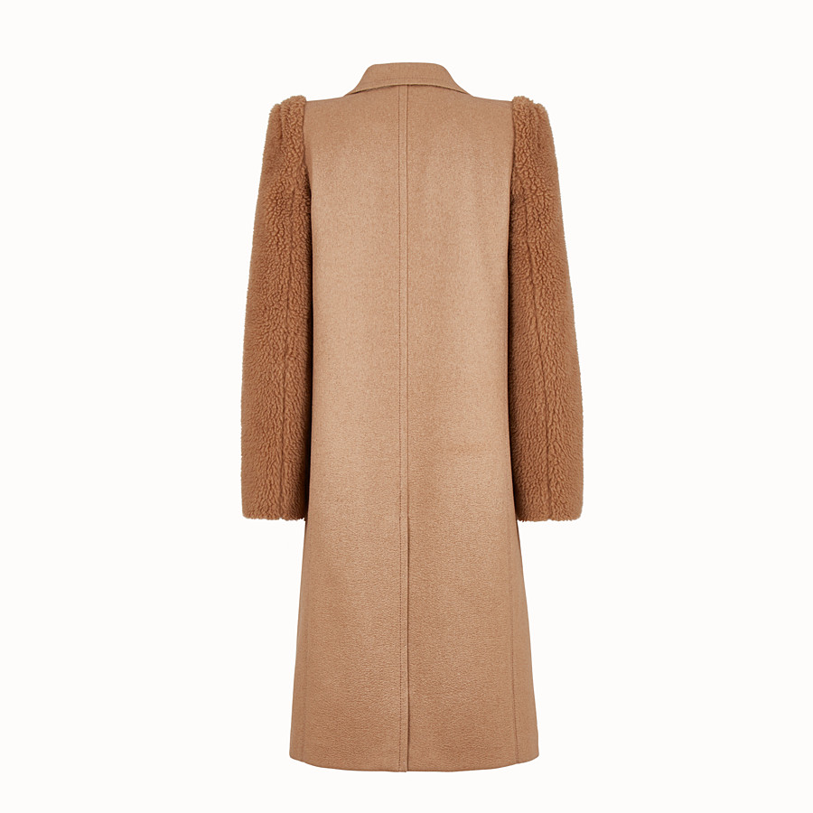 FENDI OVERCOAT - Brown camel coat - view 2 detail