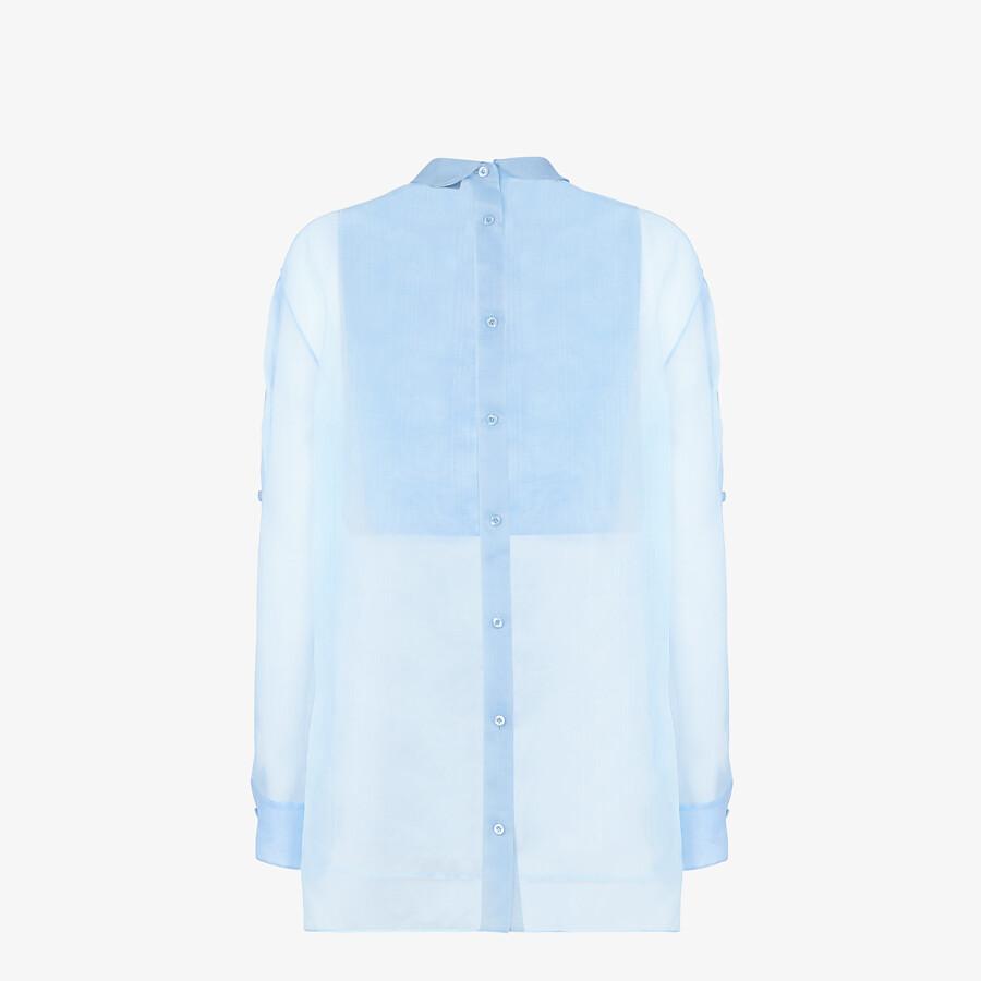 FENDI SHIRT - Light blue silk shirt - view 2 detail