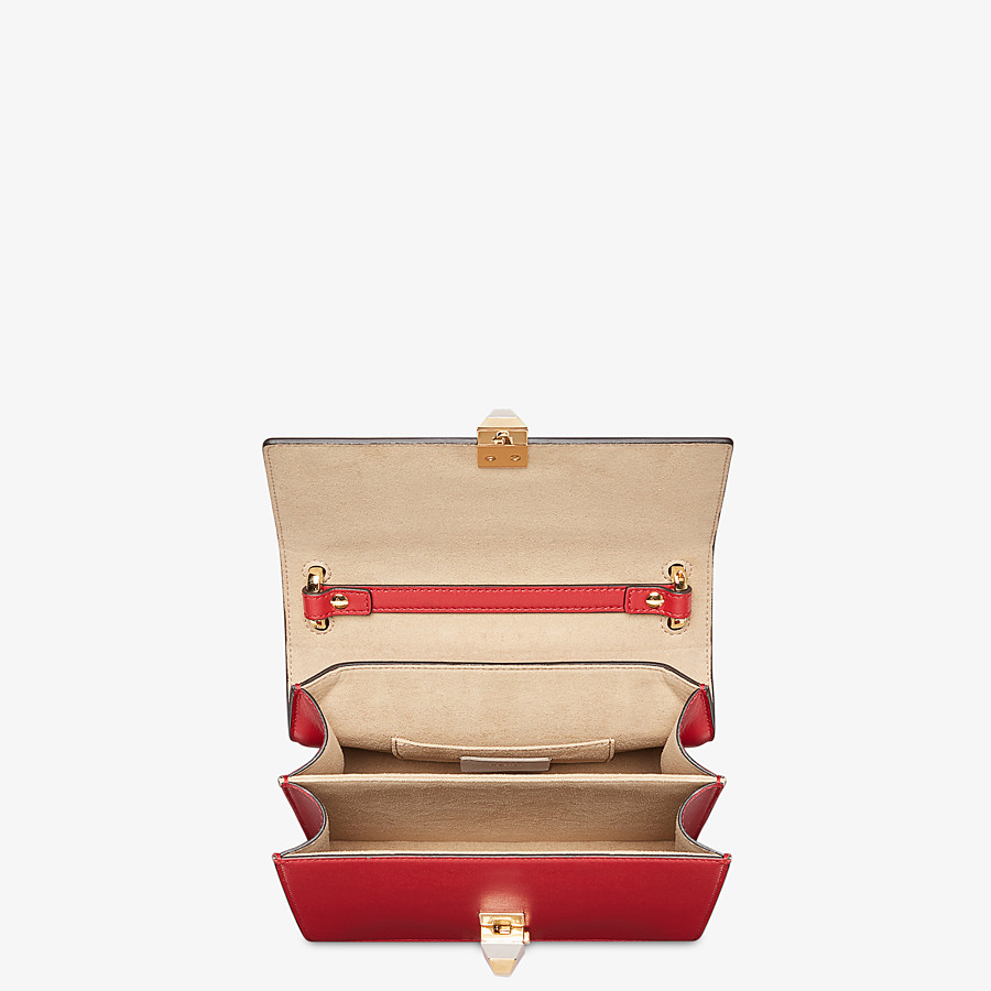 FENDI KAN I SMALL - Red leather mini bag - view 5 detail