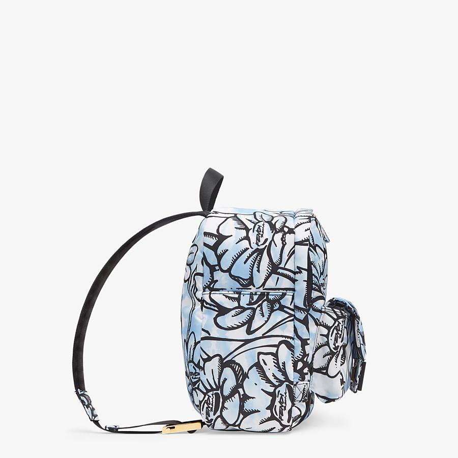 FENDI BAGUETTE BACKPACK - Floral-print nylon backpack - view 3 detail